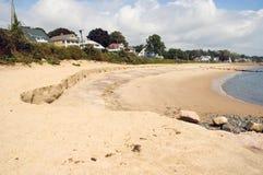 Erosione di spiaggia Immagini Stock Libere da Diritti