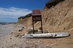 Erosione di spiaggia Fotografie Stock Libere da Diritti