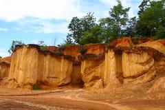 Erosione di terreno famosa Immagine Stock Libera da Diritti