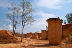Erosione di terreno piacevole, Tailandia Fotografia Stock