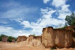 Erosione nella terra Fotografia Stock