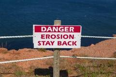 Erosionstaget tillbaka undertecknar Arkivbild
