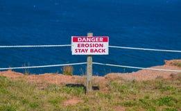 Erosionstaget tillbaka undertecknar Royaltyfri Foto