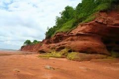 Erosão da costa Fotos de Stock Royalty Free