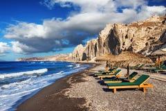 Erosstrand auf Santorini-Insel Lizenzfreies Stockbild