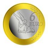 Erotic 6 Euro Coin Royalty Free Stock Image