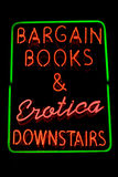 Erotic bookshop neon sign Royalty Free Stock Photography