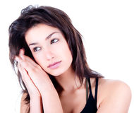 Erotic brunette woman portrait Royalty Free Stock Photo
