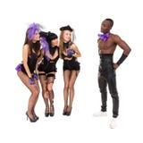 Erotic cabaret dancers posing Stock Photography