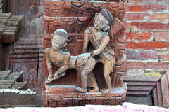 Erotic carving, Kama Sutra position Royalty Free Stock Photos