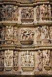 Erotic Carvings - Khajuraho - India Royalty Free Stock Photo
