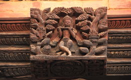 Erotic carvings temple patan nepal. Royalty Free Stock Photos
