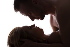Erotic couple in bed Royalty Free Stock Image