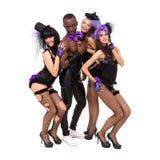 Erotic dancers posing Stock Photography