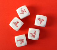 Erotic Dices Stock Photos