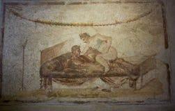 Erotic Fresco from Pompei Stock Image