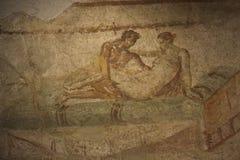 Erotic Fresco from Pompei Royalty Free Stock Photography