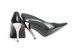 Erotic hig heels in black Stock Images
