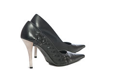 Erotic hig heels in black Stock Photo