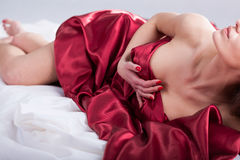 Erotic moments in bed Royalty Free Stock Photos