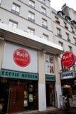 Erotic Museum in Paris. Erotic Museum entrance in Paris Royalty Free Stock Photography