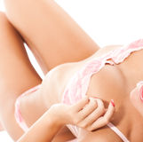 Erotic portrait of young woman in lingerie Royalty Free Stock Photos