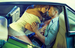 Erotic scene of the young sensual couple Stock Photos