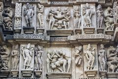 Erotic Sculpture at Khajuraho Royalty Free Stock Photo
