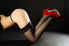 Erotic, shapely legs and ass Royalty Free Stock Photo