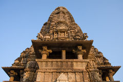 Erotic temple in Khajuraho, India. Stock Photos