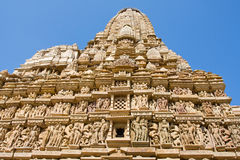 Erotic Temple in Khajuraho. Madhya Pradesh, India. Royalty Free Stock Photos