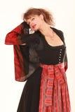 Eroticism in Bavarian costume Stock Photo