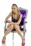 Erotische blonde Stock Foto's