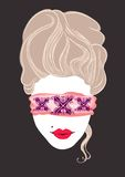 Erotische Marie Antoinette Illustration Stock Afbeelding