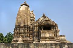 Erotischer Tempel von Khajuraho, Indien stockbilder