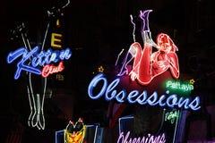 Erotiska neonlampor Arkivbild