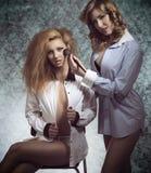 Erotiska sminkflickor Royaltyfria Bilder