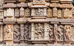 erotiskt berömdt india khajurahotempel Arkivbilder