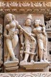 erotiskt berömdt india khajurahotempel Royaltyfria Bilder