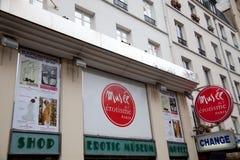 Erotiskt museum i Paris Arkivbild