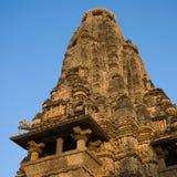 Erotyczna świątynia w Khajuraho, India. fotografia stock