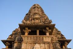 Erotyczna świątynia w Khajuraho, India zdjęcia stock