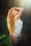Erotyczna dziewczyna w bieliźnie Fotografia Royalty Free