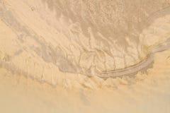 Erozi pojęcie: proces żlobić lub żlobi wiatrem Obraz Stock