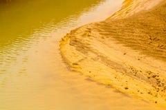 Erozi pojęcie: proces żlobić lub żlobi wiatrem Fotografia Royalty Free