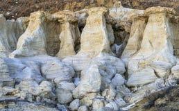 Erozj formacje w farby kopalni Obraz Stock