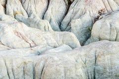 Erozj formacje w farby kopalni Zdjęcie Stock