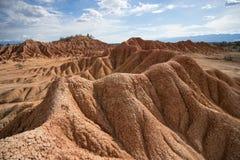 Erozja w Tatacoa pustyni zdjęcie royalty free