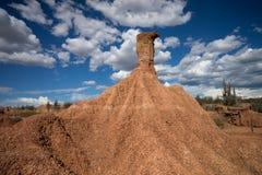Erozja w Tatacoa pustyni Kolumbia fotografia stock