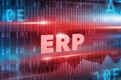 ERP概念 免版税库存照片